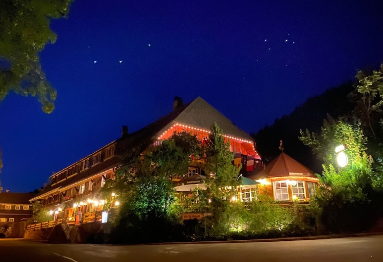 Hotel Hirschen Menzenschwand, St. Blasien, Fachada del hotel de noche