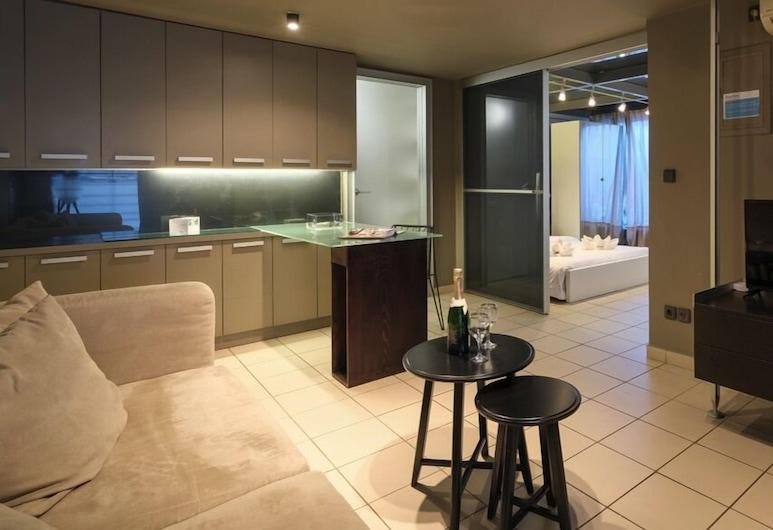 Modern 45m² homm Apartment in Vitonos str, Gazi, 雅典, 公寓, 1 間臥室, 客廳