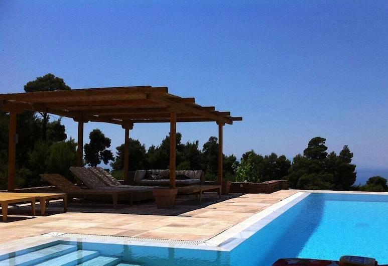 Tranquility homm Cottage Villa in Damia, Mantoudi-Limni-Agia Anna, Pool