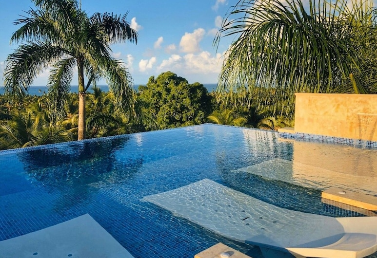 Modern 7 Bedrooms Villa on Private Beach Access, Las Terrenas, Pool