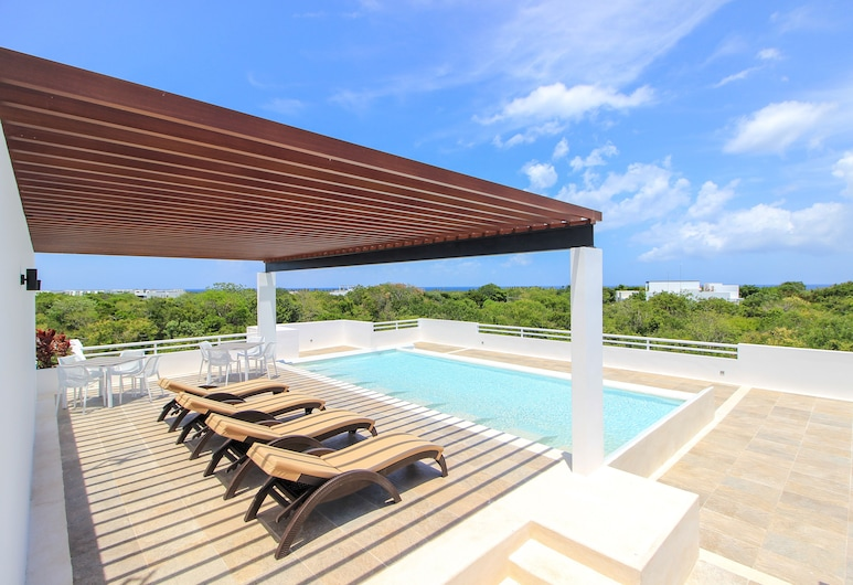 Family Ground Floor 2BR Condo with Terrace and Pool facilities, Akumal