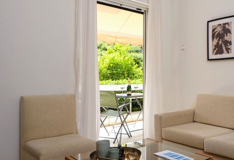 40m² homm Glyfada Apartment, Tataki street, Glyfada, Lejlighed - 1 soveværelse, Opholdsområde