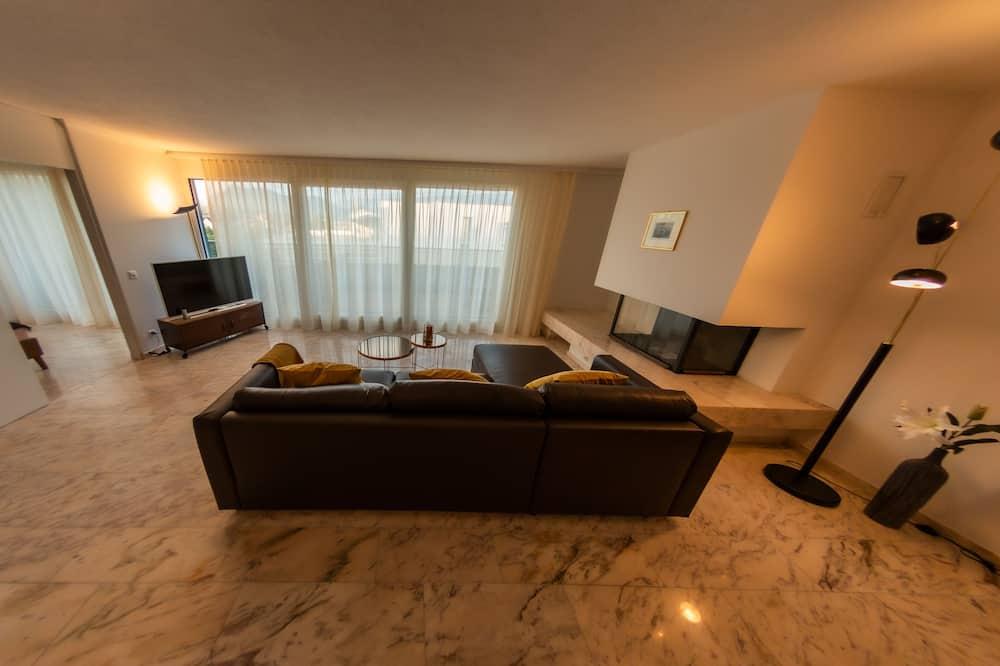 City appartement, 1 slaapkamer, niet-roken, Uitzicht op de stad - Woonkamer