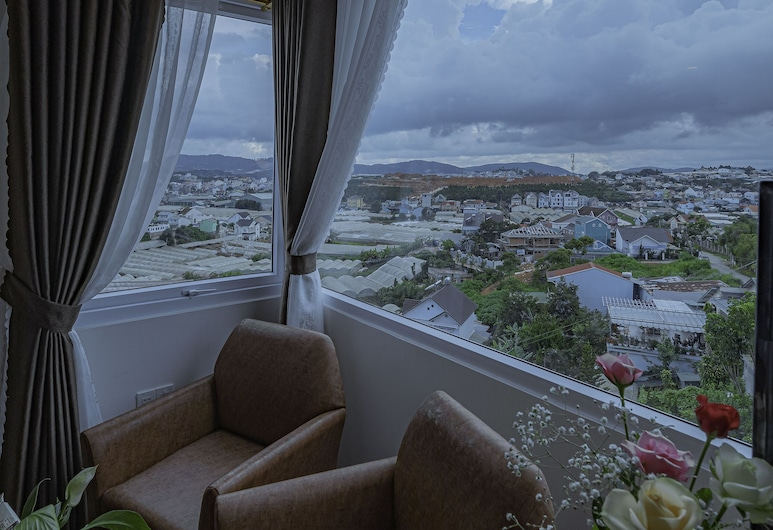 Coco Hotel Da Lat, Da Lat, Chambre Double Deluxe, Vue depuis le balcon
