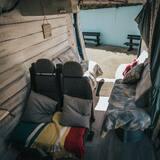 Ferienhütte, 1 Queen-Bett - Balkon