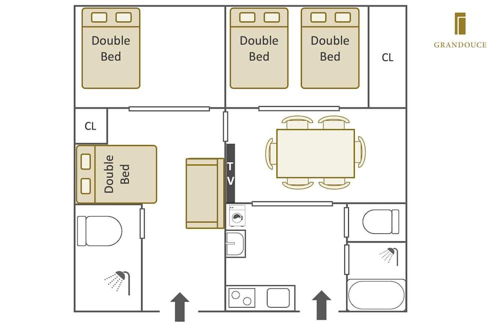 Departamento familiar, 3 habitaciones - Exterior