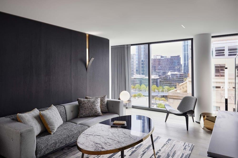 Suite Ville, 1 très grand lit, vue ville, en angle (Marvelous) - Chambre