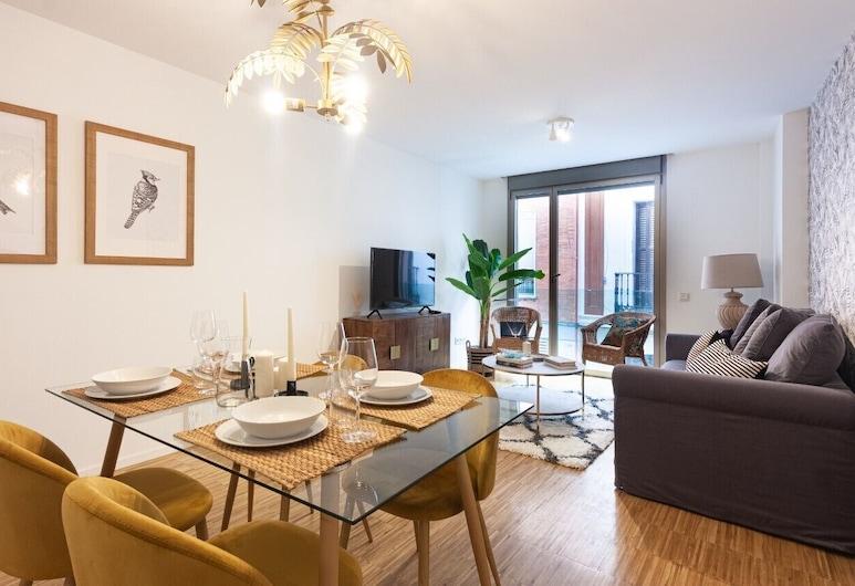 New Heima Gran Vía C, Madrid, Apartment, 1 Bedroom, Living Area
