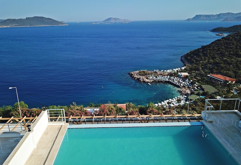 Blue Island Luxury Hotel - Adults Only, Kas, Takterrasse med basseng