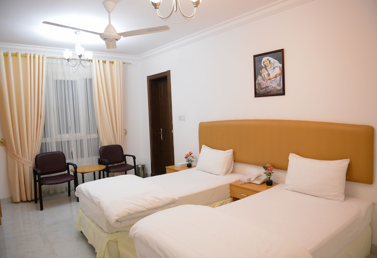 Oasis Hotel Apartments, Muscat, Standard Twin Room, 2 Twin Beds, Mountain View, Room
