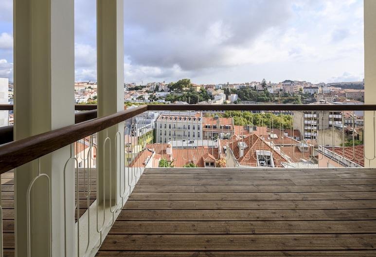 Lisbon Serviced Apartments - Principe Real, Lissabon, Deluxe appartement, 1 slaapkamer, Balkon