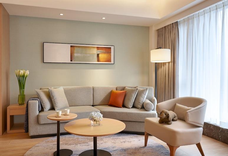 Shama Serviced Apartments Zijingang Hangzhou, Hangzhou, Suite Deluxe, 2 Quartos, Área de Estar