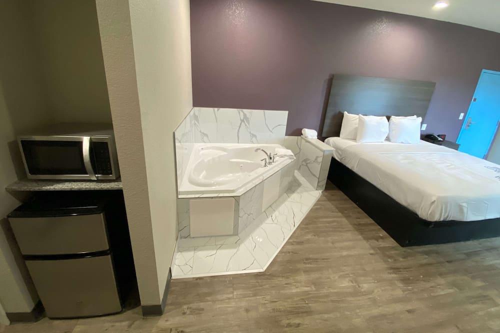 Номер-люкс, 1 ліжко «кінг-сайз», для некурців, ванна з гідромасажем - Приватна спа-ванна