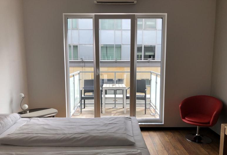 Art Rock Downtown Hotel, Kolín nad Rýnem, Pokoj Comfort s dvojlůžkem, balkon, Pokoj