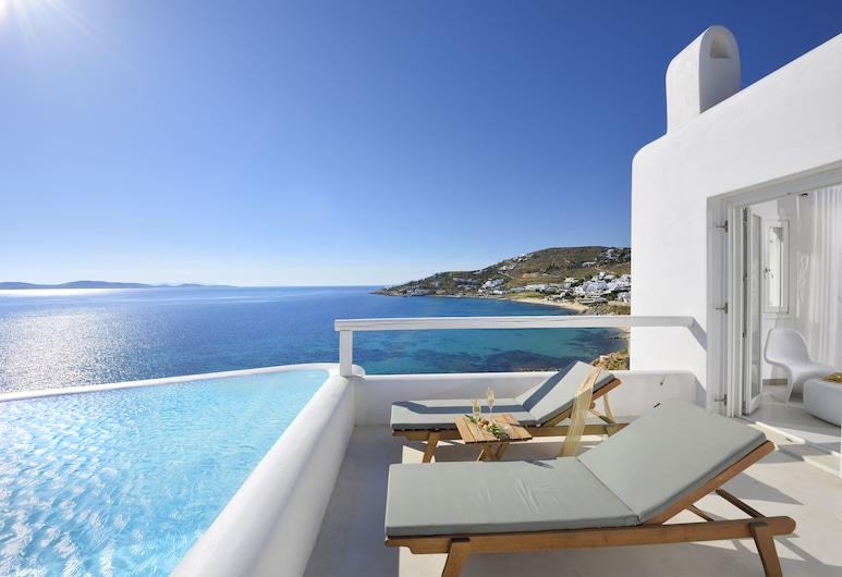 Amazon Mykonos Resort & Spa, Mykonos, Amazon Sea View Suite with Infinity Private Pool, Quarto