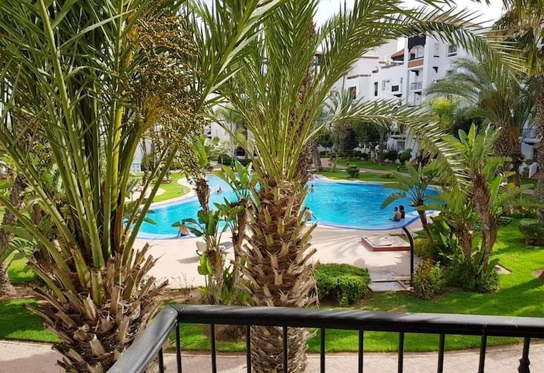 Apartment With 2 Bedrooms in Agadir, With Wonderful City View, Shared Pool, Enclosed Garden, Agadir, Balcony