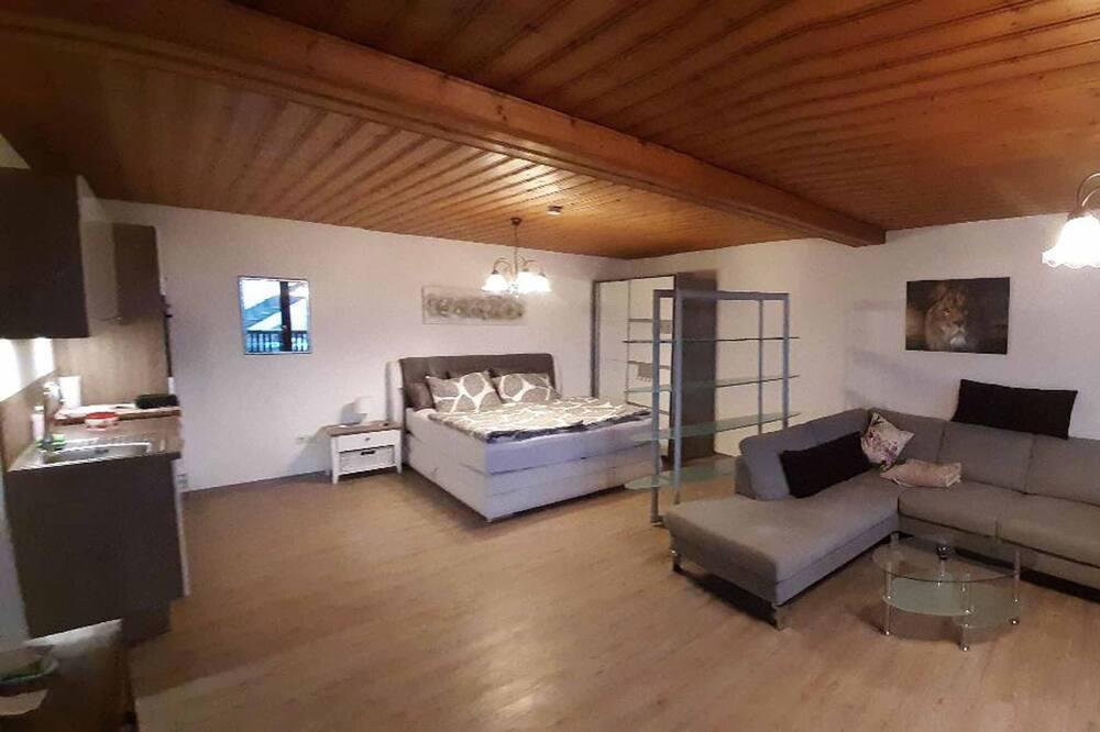 公寓, 1 張加大雙人床及 1 張梳化床, 露台, 山景 - 客廳