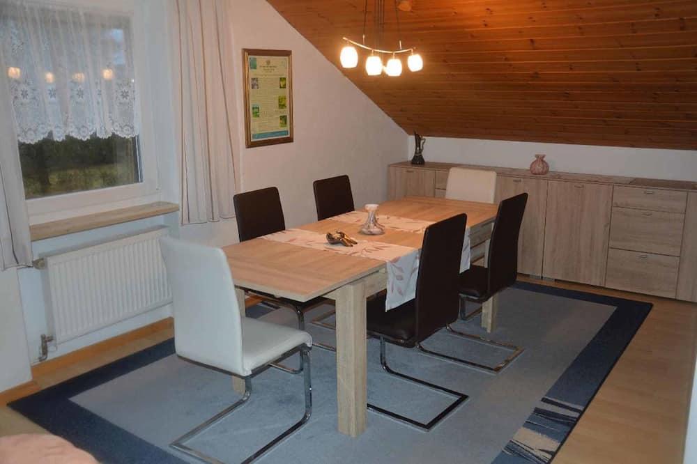 公寓, 2 間臥室 (Ferienwohnung mit Klimaanlage für 6) - 客房內用餐