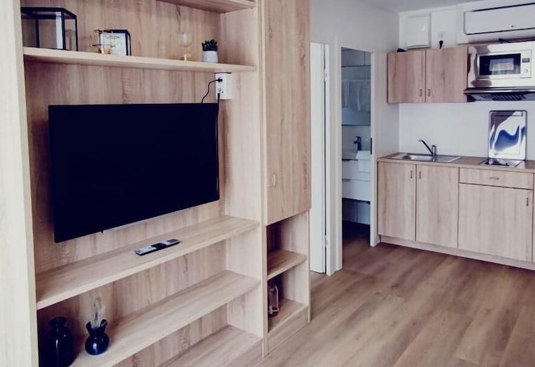 Smart & Stay Aparthotel, Saarlouis, Căn hộ tiện nghi đơn giản, Phù hợp cho người khuyết tật, Quang cảnh thành phố, Khu phòng khách