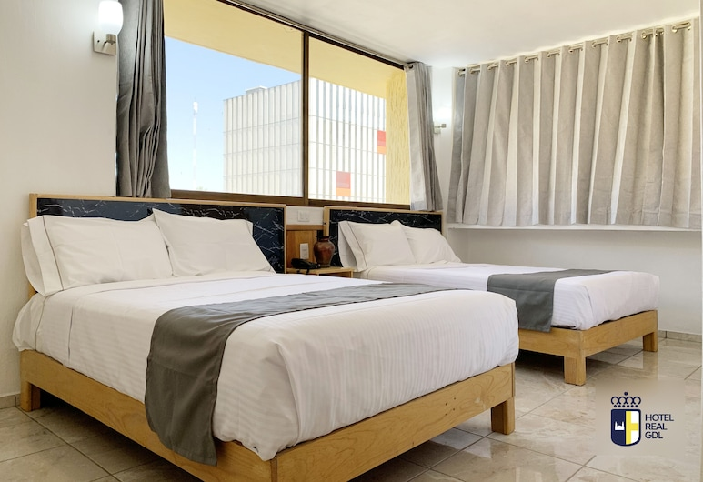 Hotel Real GDL, Guadalajara, Standard-Vierbettzimmer, Zimmer