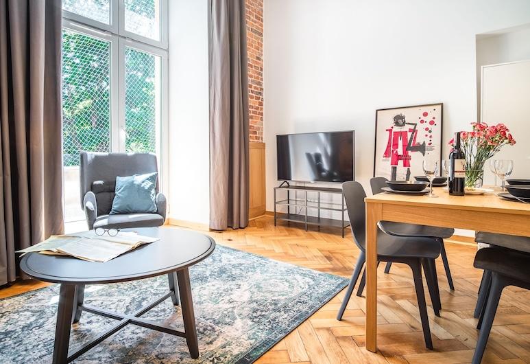 Tower Street Apartments, Krokuva, Išskirtinio dizaino studijos tipo numeris, Svetainės zona