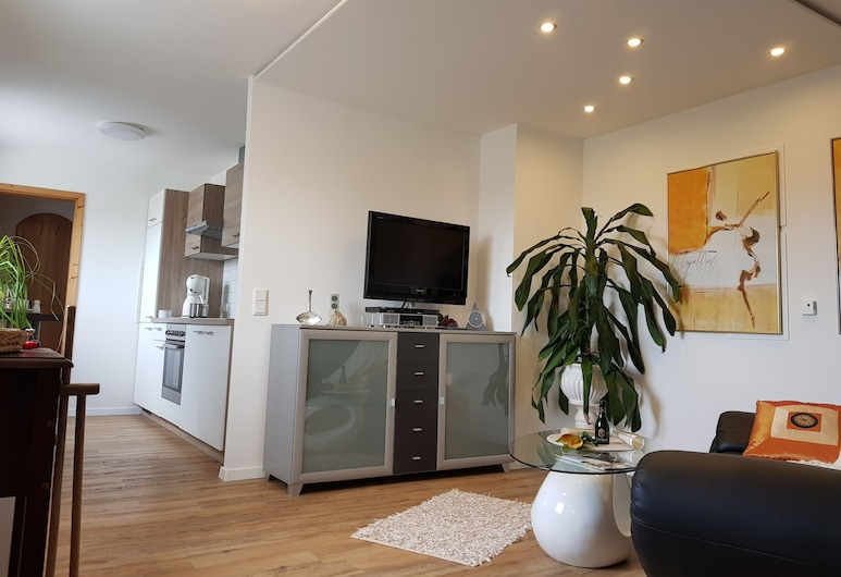 Ferienwohnung Maritte, 代爾芙特, 公寓, 客廳