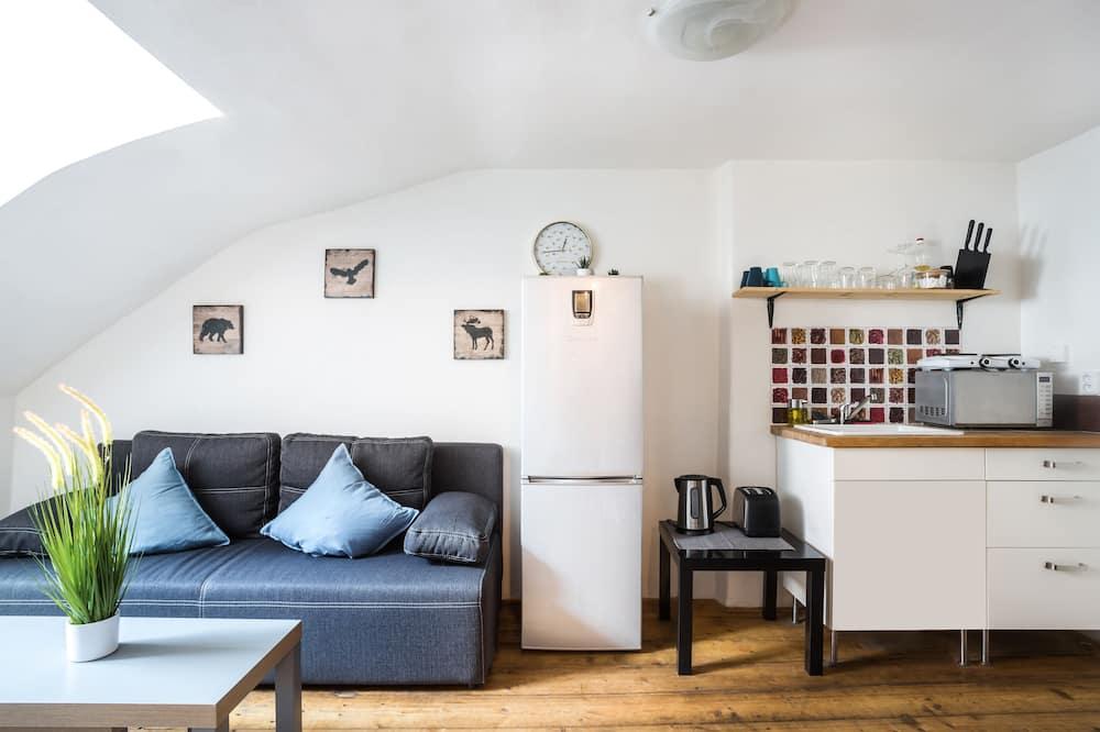 Appartement Familial, 2 chambres, non-fumeurs, vue ville - Coin séjour
