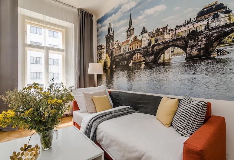 Michal&Friends APT in center*Netflix, Prag, Classic apartman, Dnevni boravak