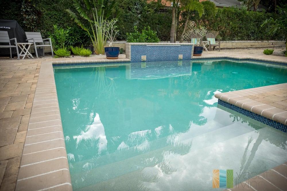 Dom, 2 veľké dvojlôžka (Palm Terrace) - Bazén