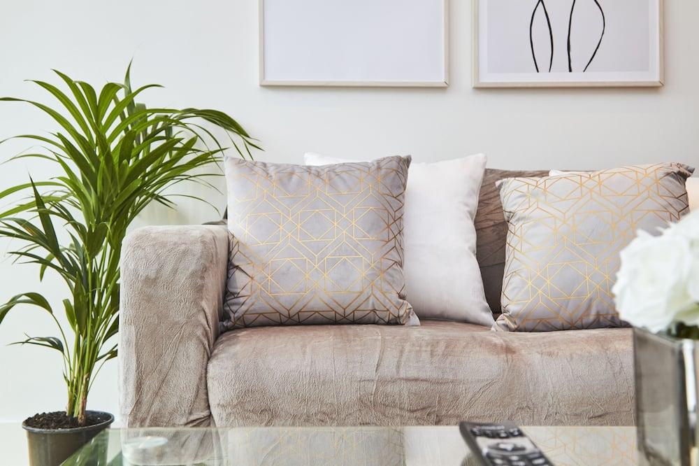 Deluxe-Apartment, eigenes Bad - Lounge