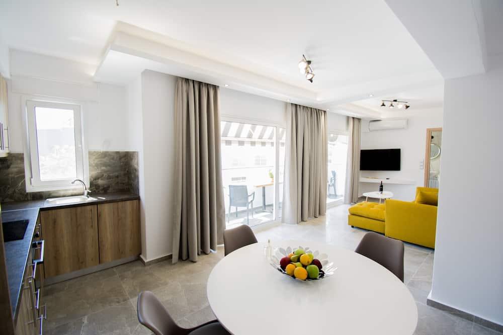 شقة فاخرة - منطقة المعيشة