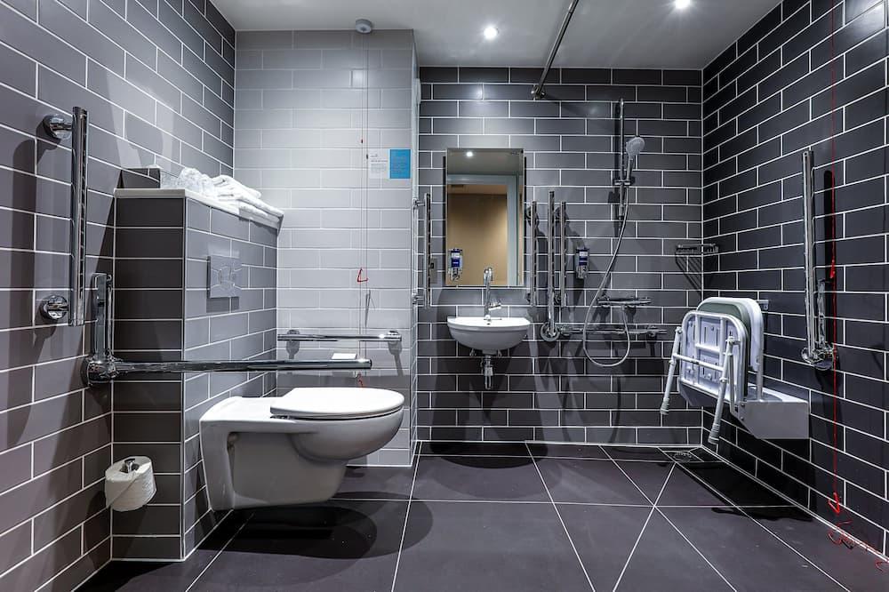 客房, 1 張標準雙人床, 無障礙 (Roll-In Shower) - 浴室
