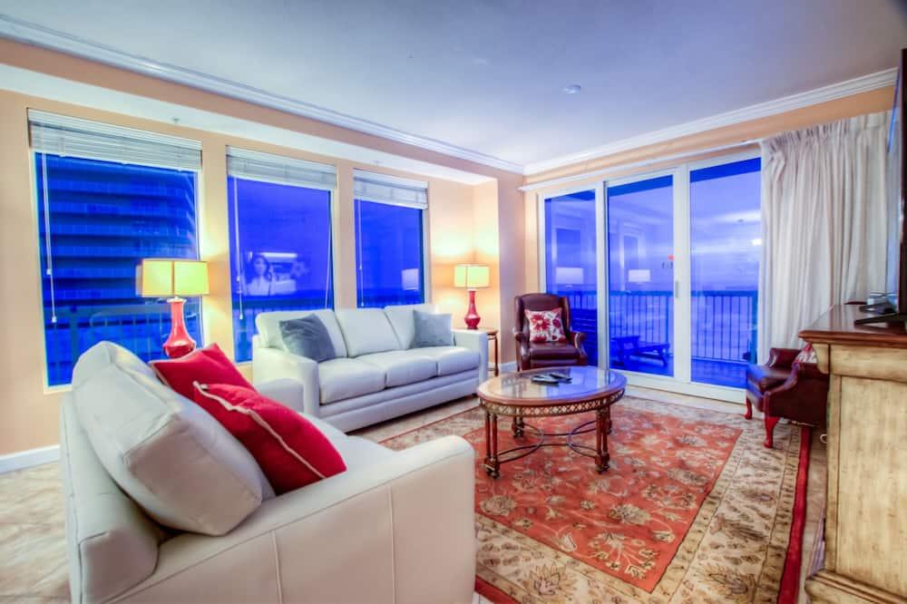 公寓客房, 2 間臥室, 陽台, 海濱 (601) - 客廳