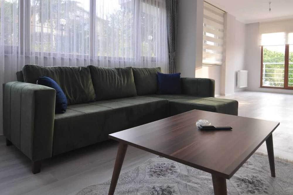 Rodinný apartmán, 3 ložnice, výhled na hory - Obývací pokoj