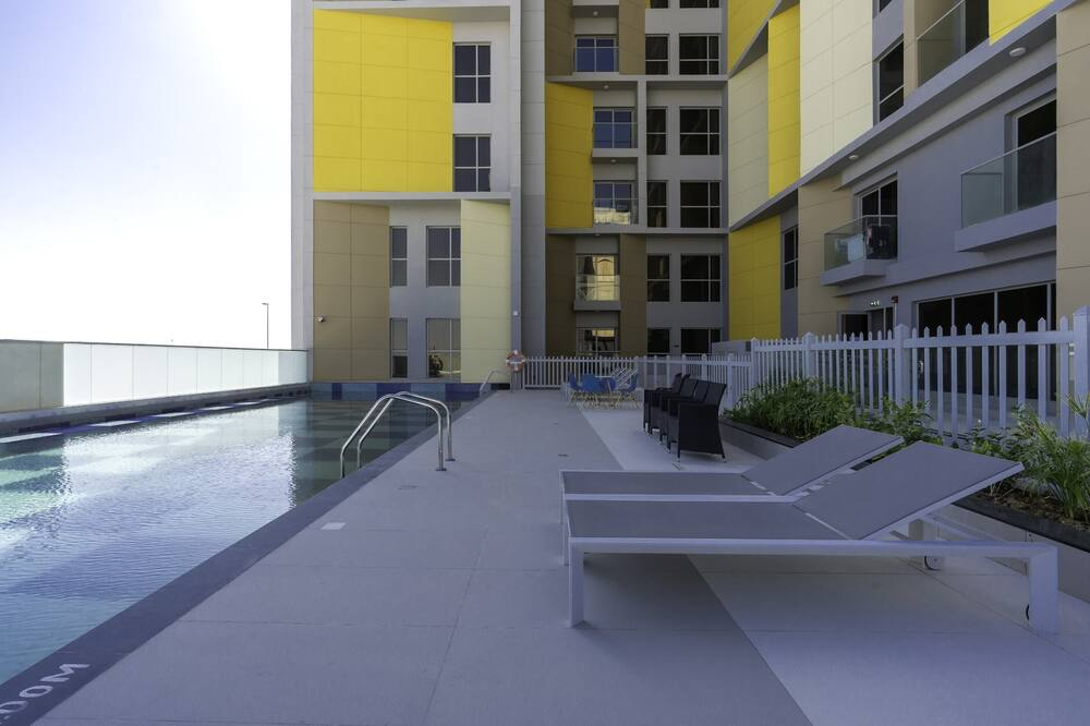 Eenvoudig appartement, 1 queensize bed - Zwembad