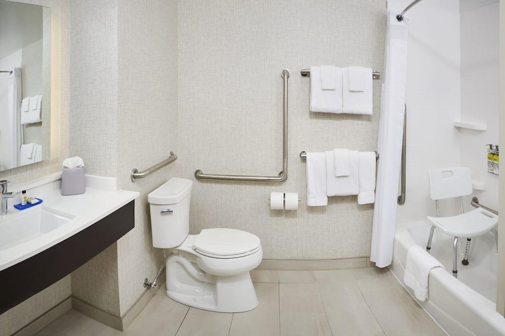 ห้องสแตนดาร์ด, เตียงคิงไซส์ 1 เตียง, พร้อมสิ่งอำนวยความสะดวกสำหรับผู้พิการ (Mobility Tub) - ห้องน้ำ