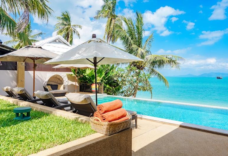HSH - 3 Bedrooms Front Beach - Bangrak, Koh Samui, 3-Bedroom Pool Villa Beachfront, Private pool