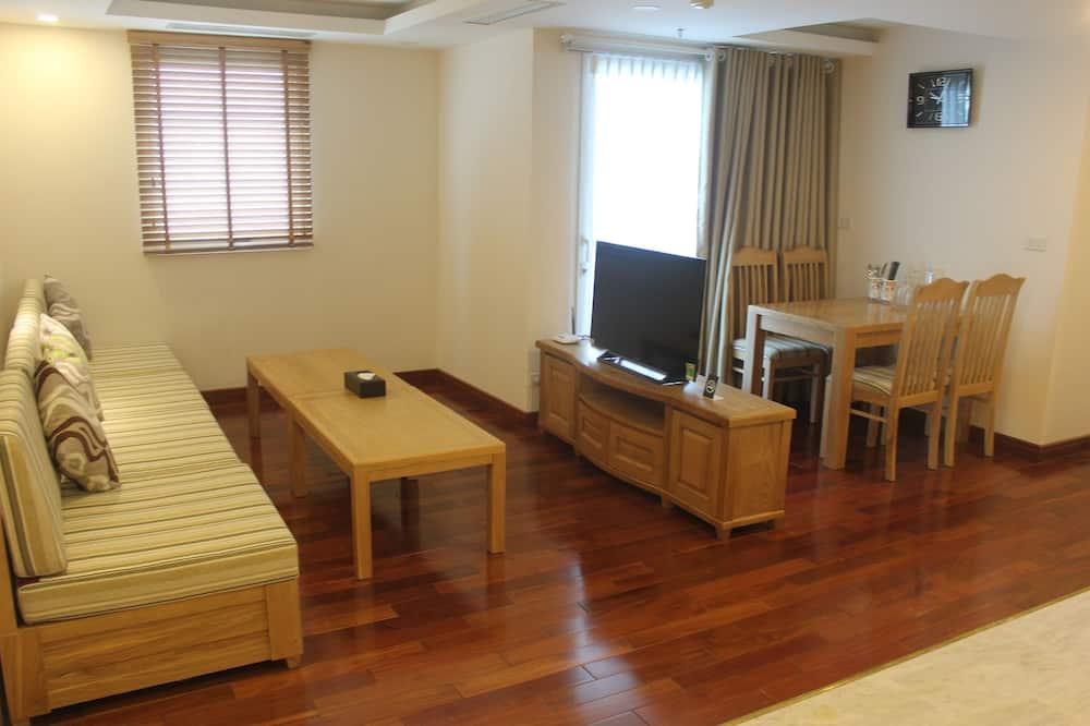 Prabangaus stiliaus apartamentai, 1 miegamasis, Nerūkantiesiems - Svetainės zona