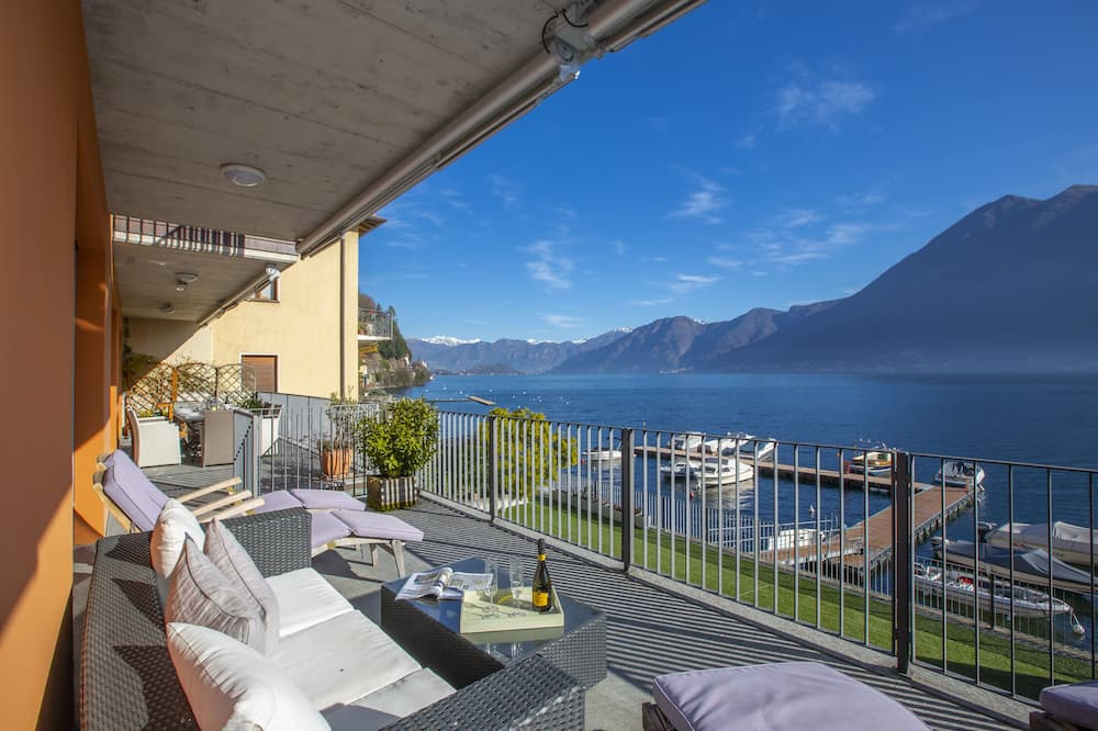 Familienapartment, Mehrere Betten, Seeseite (Argegno Fronte Lago) - Balkon