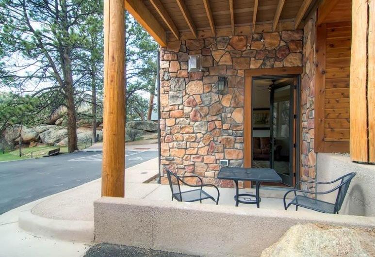 Black Canyon Inn Unit H1 Deluxe, Estes Park, Appartamento, 1 letto king (Black Canyon Inn Unit H1 Deluxe), Balcone