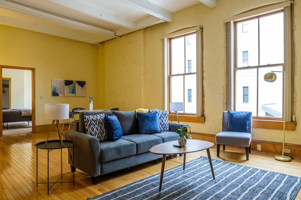 Classic Apart Daire, 2 Yatak Odası, Banyolu/Duşlu (2 Bedrooms) - Oturma Alanı