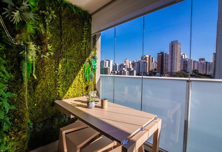 360 Suítes Perdizes, Sao Paulo, Estudio superior, 1 cama Queen size, cocina básica (617), Balcón