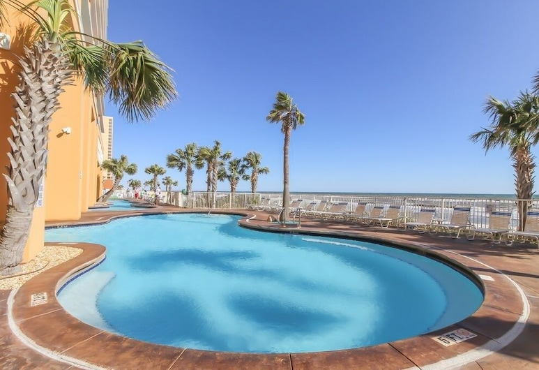 New! Beachfront Condo With Shared Heated Pools & hot tub - 1 Bedroom Condo, Panama City Beach, Apartment, 2 Schlafzimmer, Pool