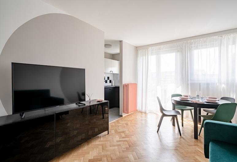 RentPlanet - Apartament Nankiera, Wroclaw, Family Apartment, Living Area