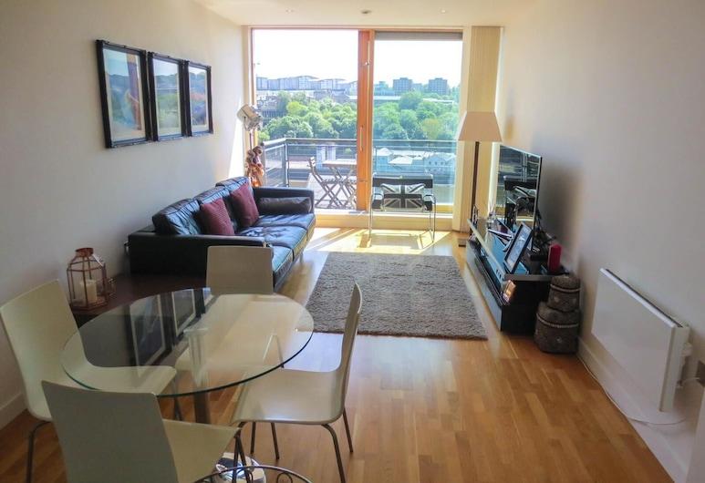 Modern quayside apartment, Newcastle-upon-Tyne, Apartament typu City, Powierzchnia mieszkalna