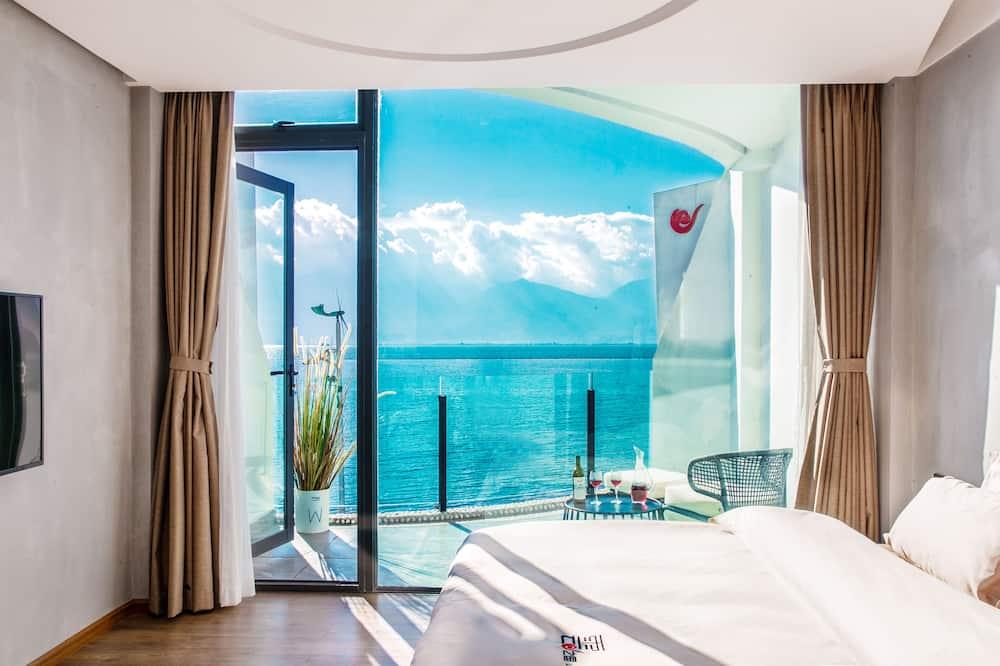 Panoramic Δίκλινο Δωμάτιο (Double), Μπαλκόνι, Θέα στη Θάλασσα - Θέα στη λίμνη