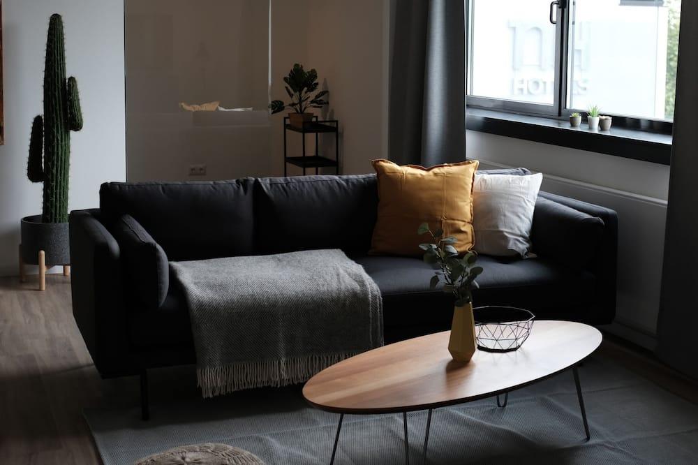 Aukštesnės klasės apartamentai, 2 miegamieji (incl. 75€ Cleaning Fee) - Svetainės zona