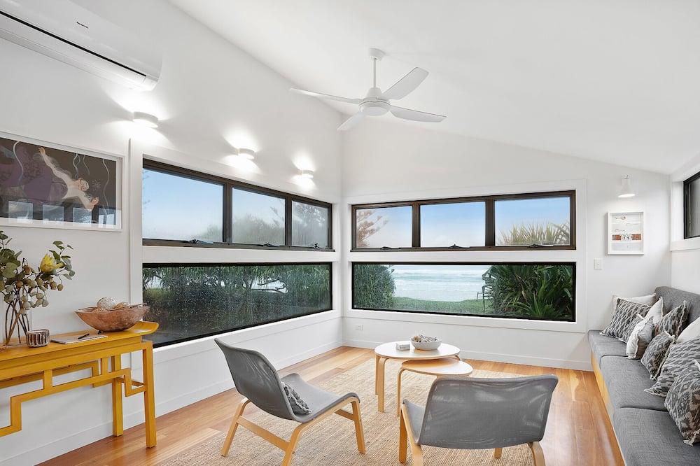 Deluxe huis, 4 slaapkamers, Uitzicht op het strand, Aan het strand - Woonruimte