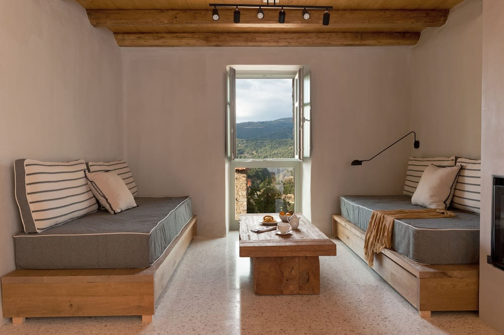 Ruga Suite with Mountain View & Fireplace - Area soggiorno