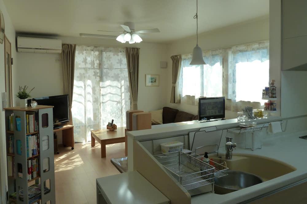 Pokoj se dvěma jednolůžky, společná koupelna (A, Nearest JR / Keisei Funabashi St.) - Obývací prostor